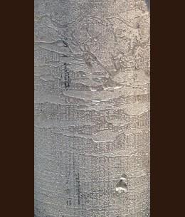 Свічка Рустік Циліндр срібна (5,5 х 16 см, 32 год)