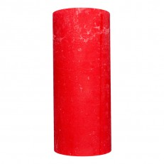 Candel Rustic Cylinder red ( 8,5 х 20, 110 hours ) / 8