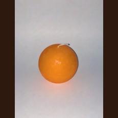 Candle Rustic ball (D-6,5 х 6 cm, 25 hours) orange