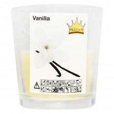 Свеча в стакане (о65-79х83 мм, 30 час) АРОМА ваниль / 6