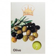 Candel tea light AROMA ( 8 х 12 ) \ 6 olive