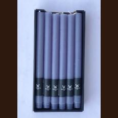 Свечи хозяйственные серо-голубые (2,2 х 27 см) - набор 12 штук