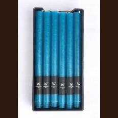 Свечи хозяйственные синяя бирюза (2,2 х 27 см) - набор 12 штук
