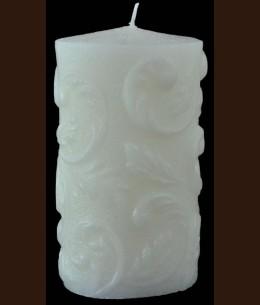 Свеча Бароко белая (9x16 см)