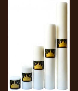 Candel Rustic Cylinder 3 wicks white ( D-15 х 50 ) / 2