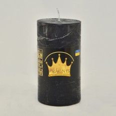 Свеча Рустик Цилиндр черный ( 55 х 10, 20 час ) 20