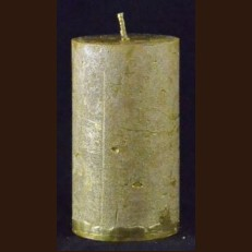 Candel Rustic Cylinder 10 cm gold