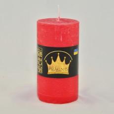 Свеча Рустик Цилиндр красный ( 55 х 10, 20 час ) 20
