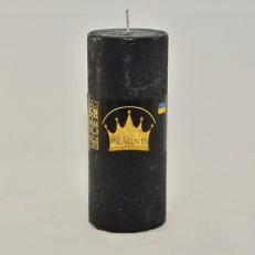 Свеча Рустик Цилиндр черный ( 55 х 13, 26 час ) 20