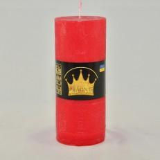 Свеча Рустик Цилиндр красный ( 55 х 13, 26 час ) 20