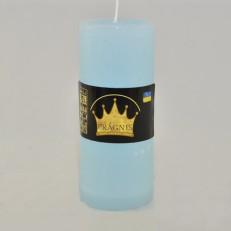 Свічка Рустік Циліндр блакитний ( 5,5 х 13, 26 год ) 20