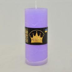 Свічка Рустік Циліндр бузковий ( 5,5 х 13, 26 год ) 20