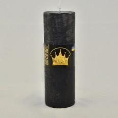 Свічка Рустік Циліндр чорний (5,5 х 16 см, 32 год)