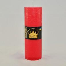 Свічка Рустік Циліндр червоний ( 5,5 х 16, 32 год ) 20