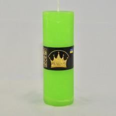 Свічка Рустік Циліндр зелений ( 5,5 х 16, 32 год ) 20