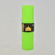 Свічка Рустік Циліндр зелений ( 5,5 х 20, 40 год ) 20