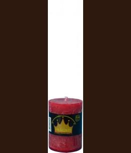 Свічка Рустік Циліндр вишневий ( 7 х 10, 35 год ) / 12