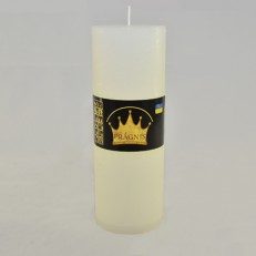 Свічка Рустік Циліндр білий ( 7 х 20, 70 год ) 9