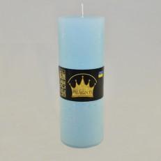Свеча Рустик Цилиндр голубой ( 7 х 20, 70 час ) 9