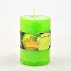 Свеча Рустик Цилиндр (55х8 см, 20 час) АРОМА лимон лайм / 20