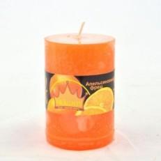 Свічка Рустік Циліндр (55х8 см, 20 год) АРОМА апельсиновий фреш / 20