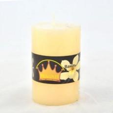 Candel Rustic Cylinder (55х8 cm, 20 hours) AROMA vanilla / 20