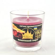 Свічка в стакані (о65-79х83 мм, 30 год) АРОМА вишневий пиріг / 6