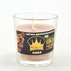 Свеча в стакане (о65-79х83 мм, 30 час) АРОМА кофе / 6