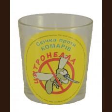 Свічка в стакані (о65-79х83 мм, 30 год) АРОМА цитронела / 6