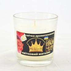 Свічка в стакані (о65-79х83 мм, 30 год) АРОМА квітковий магазин / 6