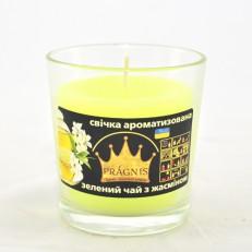 Свічка в стакані (о65-79х83 мм, 30 год) АРОМА зелений чай / 6