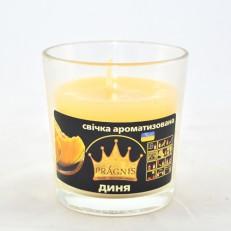 Свічка в стакані (о65-79х83 мм, 30 год) АРОМА диня / 6