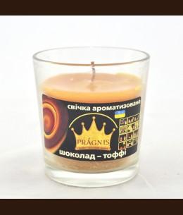 Свеча в стакане (о65-79х83 мм, 30 час) АРОМА тоффи / 6