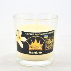 Свічка в стакані (о65-79х83 мм, 30 год) АРОМА ваніль / 6