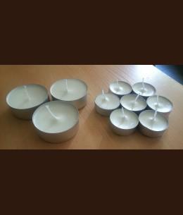 Свеча Джамбо белый (большая чайная) (о57х23 мм)