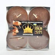 Свеча Джамбо Арома (о57х23 мм) 4 шт шоколад