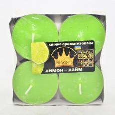 Свічка Джамбо Арома (о57х23 мм) 4 шт лимон лайм