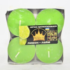 Свеча Джамбо Арома (о57х23 мм) 4 шт лимон лайм