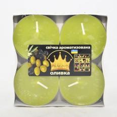 Свеча Джамбо Арома (о57х23 мм) 4 шт оливка