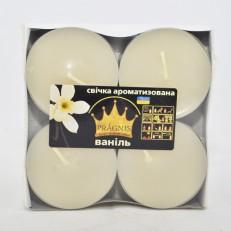 Свеча Джамбо Арома (о57х23 мм) 4 шт ваниль