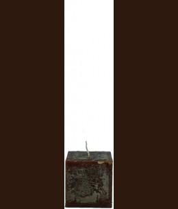 Свеча Рустик Квадрат шоколад ( 7,5*7,5 х 7,5 , 30 час ) / 6