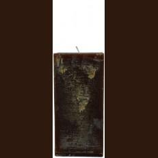 Свеча Рустик Квадрат шоколад (9,5*9,5 х 20 , 110 час) / 6