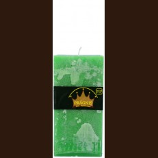 Candel Rustic Square green ( 9,5*9,5 х 20 , 110 hours ) / 6