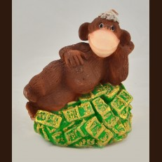 Мавпа на купюрах (10х10,5 см)