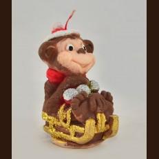 Мавпа на санках з кульками (5х6х9 см)