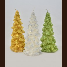 Paraffin candles Christmas tree NYTb