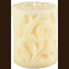 Candel Rococo white (8 x 10 cm) /9