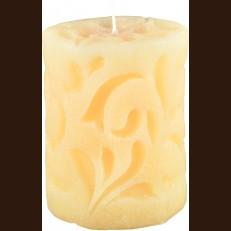 Cвеча Рококо бежевая (8 x 10 см)
