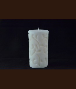 Cвеча Рококо белая (8 x 15 см) /9