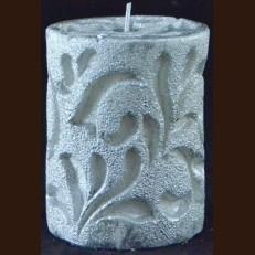 Cвічка Рококо (8 x 15 см) серебряная